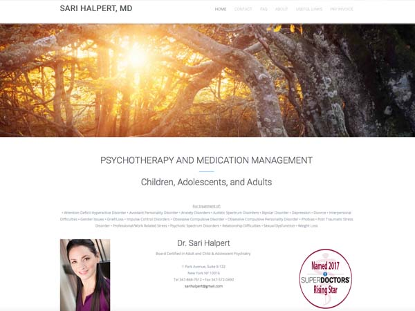 Sari Halpert MD Website