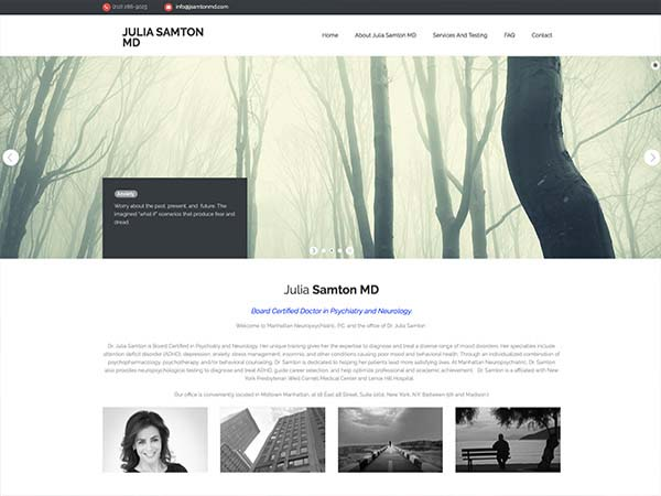 Julia Samton MD Website